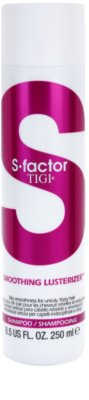 TIGI S-Factor Smoothing Lusterizer champú para cabello encrespado y rebelde
