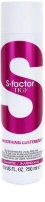 TIGI S-Factor Smoothing Lusterizer sampon a rakoncátlan és töredezett hajra