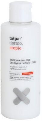 Tołpa Dermo Atopic lipidowa emulsja myjąca do twarzy i ciała