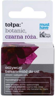 Tołpa Botanic Black Rose подхранващ балсам за устни 2
