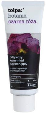 Tołpa Botanic Black Rose crema de noche regeneradora  para pieles secas y sensibles