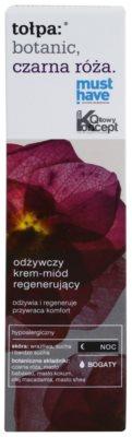 Tołpa Botanic Black Rose nočna regeneracijska krema za suho in občutljivo kožo 2
