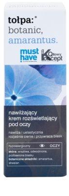 Tołpa Botanic Amaranthus crema iluminadora para contorno de ojos con efecto humectante 2