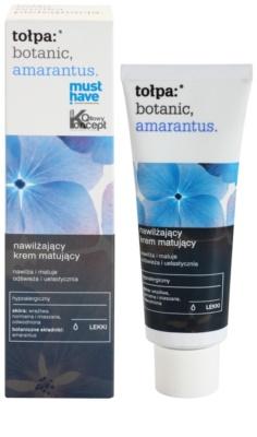 Tołpa Botanic Amaranthus crema matificante hidratante para pieles cansadas 1