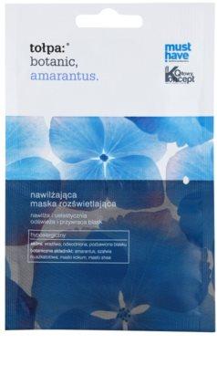 Tołpa Botanic Amaranthus aufhellende Hautmaske für empfindliche Haut