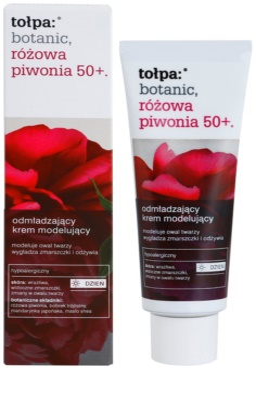 Tołpa Botanic Peony Pink 50+ crema de día rejuvenecedora  para recuperar la firmeza de la piel 1