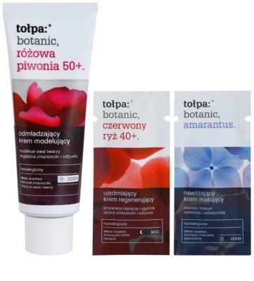 Tołpa Botanic Peony Pink 50+ crema de día rejuvenecedora  para recuperar la firmeza de la piel 3
