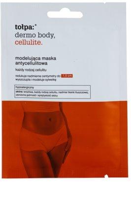 Tołpa Dermo Body Cellulite mascarilla reafirmante contra la celulitis