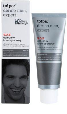 Tołpa Dermo Men Expert creme SOS para a proteção do rosto SPF 20 2