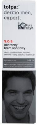 Tołpa Dermo Men Expert creme SOS para a proteção do rosto SPF 20 4