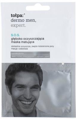Tołpa Dermo Men Expert SOS  masca mată pentru curatare pentru corectarea porilor