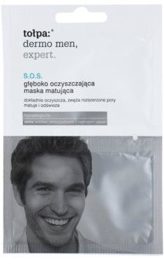 Tołpa Dermo Men Expert SOS máscara de limpeza mate para coreção dos poros