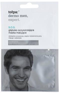 Tołpa Dermo Men Expert SOS очищуюча та матуюча маска для корекції пор