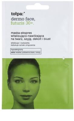 Tołpa Dermo Face Futuris 30+ Revitalisierende Maske mit feuchtigkeitsspendender Wirkung