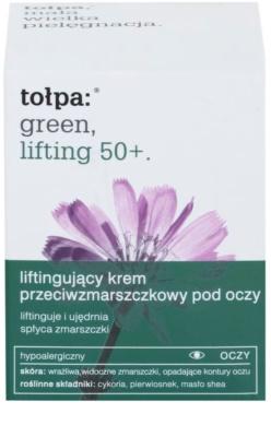 Tołpa Green Lifting 50+ crema antiarrugas para contorno de ojos  con efecto lifting 2
