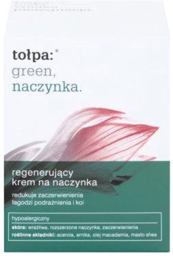 Tołpa Green Capillary creme regenerador   para pequenos derrames no rosto 2