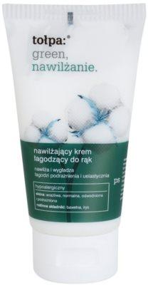 Tołpa Green Moisturizing beruhigende Creme für die Hände mit feuchtigkeitsspendender Wirkung