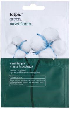 Tołpa Green Moisturizing máscara hidratante e apaziguadora