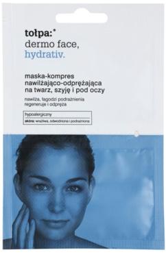 Tołpa Dermo Face Hydrativ intensive hydratisierende Maske   für Gesicht und Augenpartien