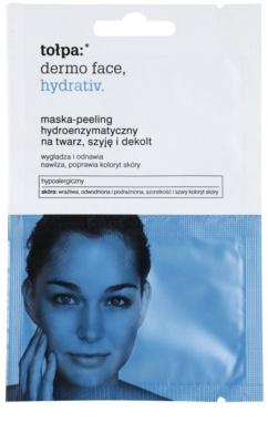Tołpa Dermo Face Hydrativ enzymatyczna maseczka peelingująca o dzłałaniu nawilżającym