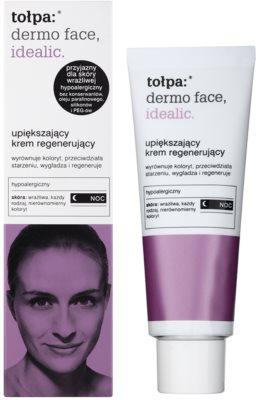 Tołpa Dermo Face Idealic crema regeneradora de noche para pieles con imperfecciones 1