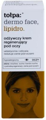 Tołpa Dermo Face Lipidro regeneracijska krema za predel okoli oči proti gubam in temnim kolobarjem 2