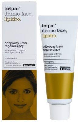 Tołpa Dermo Face Lipidro подхранващ регенериращ крем за суха или много суха кожа 1