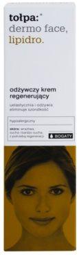 Tołpa Dermo Face Lipidro подхранващ регенериращ крем за суха или много суха кожа 3