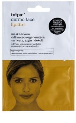 Tołpa Dermo Face Lipidro regeneráló maszk arcra, nyakra és dekoltázsra