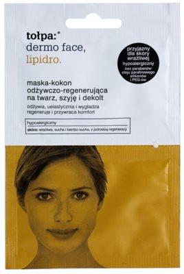 Tołpa Dermo Face Lipidro регенерираща маска  за лице, врат и деколкте