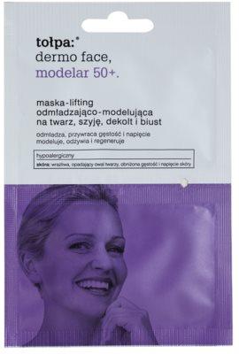 Tołpa Dermo Face Modelar 50+ liftinges feszesítő maszk arcra, nyakra és dekoltázsra