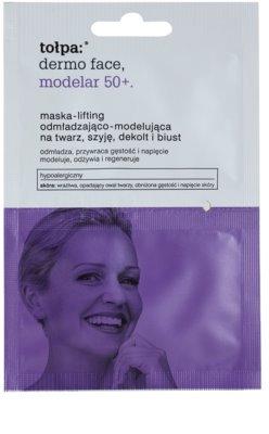 Tołpa Dermo Face Modelar 50+ maska za učvrstitev in lifting kože za obraz, vrat in dekolte