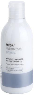 Tołpa Dermo Face Physio emulsão de limpeza micelar com efeito hidratante