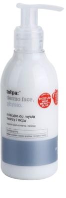 Tołpa Dermo Face Physio leite de limpeza para rosto e olhos