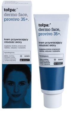 Tołpa Dermo Face Provivo 35+ овлажняващ дневен крем за подмладяване на кожата на лицето 1