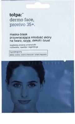 Tołpa Dermo Face Provivo 35+ bőrfiatalító maszk az arcra, nyakra, dekoltázsra és mellkasra