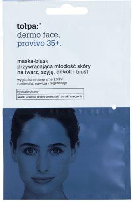 Tołpa Dermo Face Provivo 35+ omlazující maska na obličej, krk, dekolt i poprsí