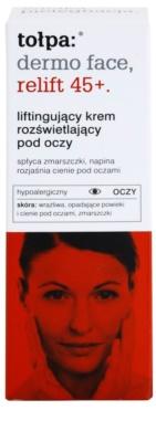 Tołpa Dermo Face Relift 45+ crema reafirmante para contorno de ojos antiarrugas y antiojeras 2