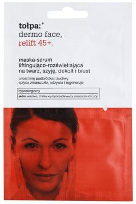 Tołpa Dermo Face Relift 45+ aufhellende Hautmaske mit Lifting-Effekt