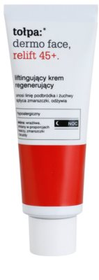 Tołpa Dermo Face Relift 45+ crema regeneradora de noche con efecto lifting