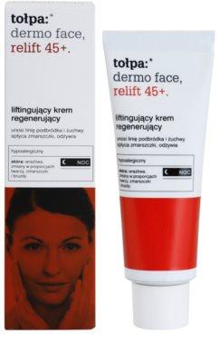 Tołpa Dermo Face Relift 45+ crema regeneradora de noche con efecto lifting 1