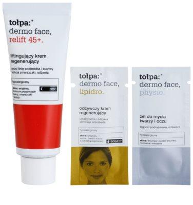 Tołpa Dermo Face Relift 45+ crema regeneradora de noche con efecto lifting 2