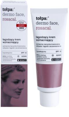 Tołpa Dermo Face Rosacal reichhaltige beruhigende Creme gegen Errötung SPF 10 1