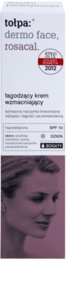 Tołpa Dermo Face Rosacal reichhaltige beruhigende Creme gegen Errötung SPF 10 2