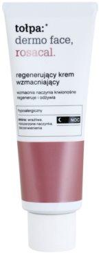 Tołpa Dermo Face Rosacal нічний відновлюючий крем для чутливої шкіри схильної до почервонінь