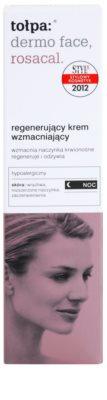 Tołpa Dermo Face Rosacal creme regenerador de noite  para a pele sensível com tendência a aparecer com vermelhidão 2