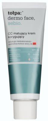 Tołpa Dermo Face Sebio krem matujący CC dla skóry z niedoskonałościami SPF 30