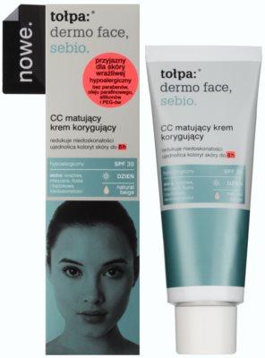 Tołpa Dermo Face Sebio mattierende CC-Creme für Haut mit Unvollkommenheiten SPF 30 1