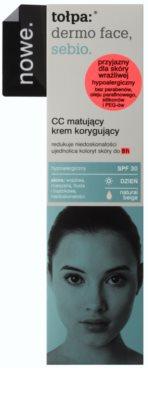 Tołpa Dermo Face Sebio mattierende CC-Creme für Haut mit Unvollkommenheiten SPF 30 2