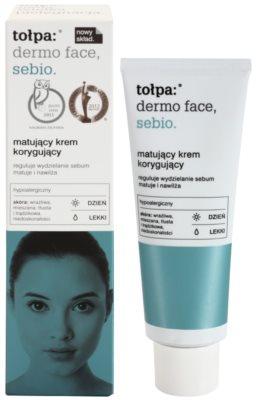 Tołpa Dermo Face Sebio creme de dia matificante para pele oleosa 1